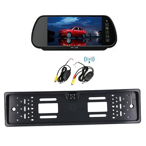 камера монитор / зеркало европейской номерного знака 7 ЖК-автомобиль беспроводной 170 HD автомобиль вид сзади ночного видения от Lightinthebox.com INT