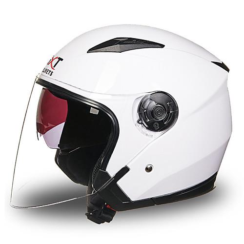 GXT Каска Взрослые Универсальные Мотоциклистам Противотуманный / Дышащий, Белый