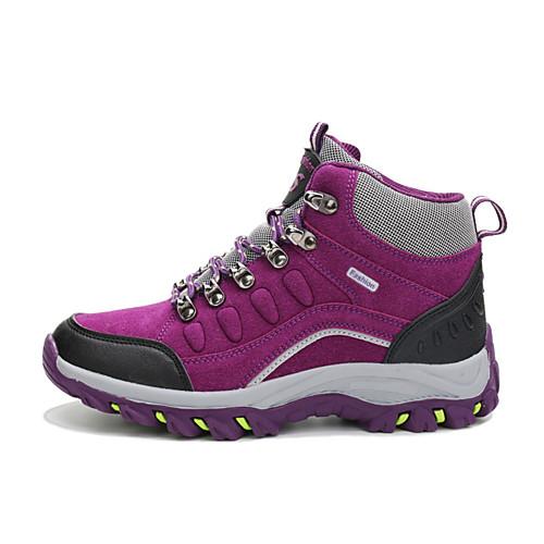 Жен. Альпинистские ботинки Туристические ботинки Противозаносный Износостойкий Удобный Высокое голенище Серый Лиловый Пурпурный Синий