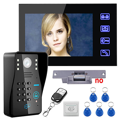 Touch key 7 lcd rfid пароль видео домофон домофон комплект электрический замок блокировки беспроводной пульт дистанционного управления от Lightinthebox.com INT