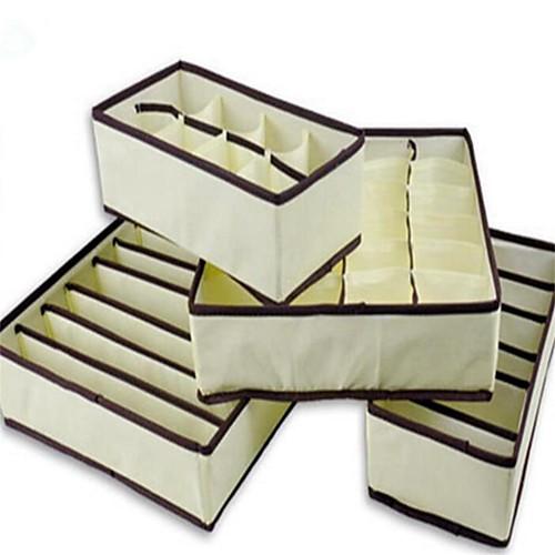 Коробка хранения дома бункеры нижнее белье организатор коробка бюстгальтер галстук носки хранения органайзер фото