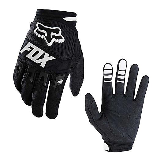 полный палец унисекс из углеродного волокна мотоциклетные перчатки бездорожные перчатки перчатки для езды на велосипеде уличные перчатки, Черный