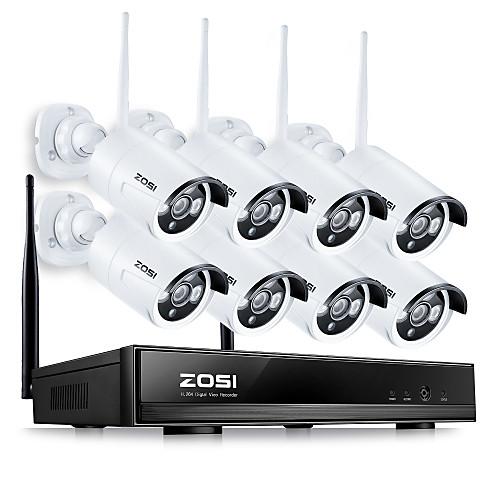 zosi8ch 960P NVR беспроводная система видеонаблюдения 8шт 1.3mp IP-камера WiFi комплект наблюдения водонепроницаемый домашней от Lightinthebox.com INT