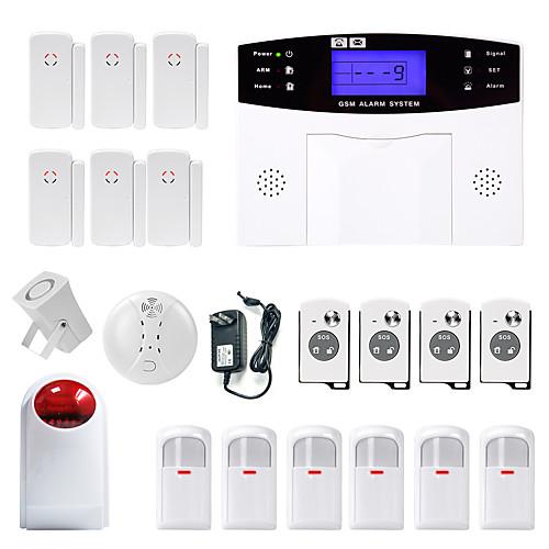 Danmini lcd wirless gsm / pstn домашний дом офис охранная сигнализация система охранной сигнализации дымовая индукция от Lightinthebox.com INT