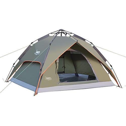 DesertFox 3 человека Автоматический тент На открытом воздухе Водонепроницаемость Устойчивость к УФ Двухслойные зонты Автоматический Сферическая Палатка 2000-3000 mm для