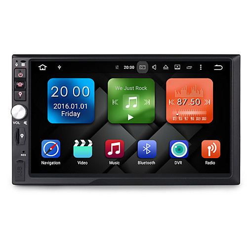 7 дюйм 2 Din 1024 x 600 Android6.0 DVD-плеер для авто для Универсальная Встроенный Bluetooth GPS RDS Контроль на руле 3G (WCDMA) WiFi