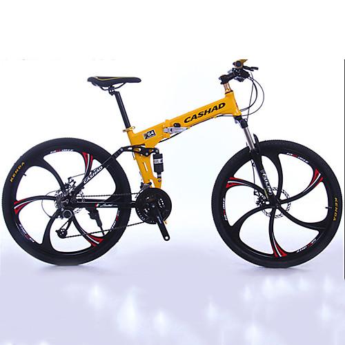 Горный велосипед / Складные велосипеды Велоспорт 27 Скорость 26 дюймы / 700CC Shimano Двойной дисковый тормоз Передняя вилка с амортизацией Складной Обычные Алюминий