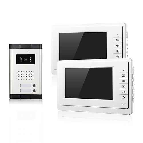Два ночных видения семьи с CMOS камерой вход 2 монитора 7 дюймов tft lcd экран видео домофон для квартиры от Lightinthebox.com INT