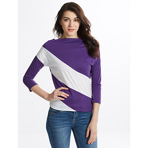 Women's Classic & Timeless T-shirt - Striped Modern Style