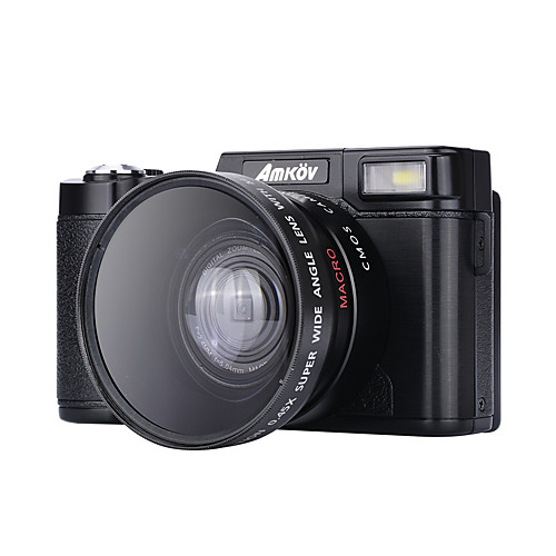 Цифровая камера amk-cdr2 max 24mp прокат 3-дюймовый hd tft экран 4x цифровое масштабирование видеокамера 1080p черный от Lightinthebox.com INT