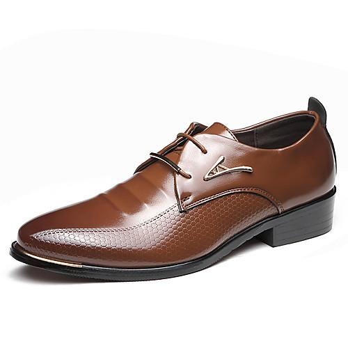Муж. Обувь для вождения Микроволокно Весна / Лето Деловые / Удобная обувь Туфли на шнуровке Черный / Коричневый / Для вечеринки / ужина