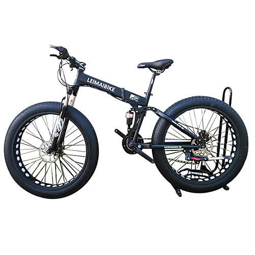 Сноубайк Складные велосипеды Велоспорт 21 Скорость 26 дюймы/700CC 40 мм SHIMANO 51-7 Двойной дисковый тормоз Вилка Рама из алюминиевого