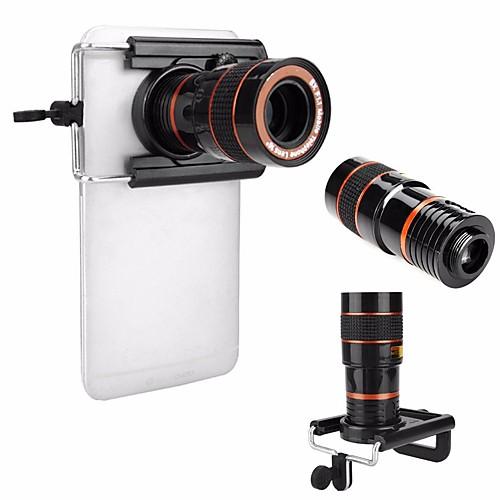 Универсальный hd 8x регулируемый фокус оптический телескоп объектив камеры мобильного телефона с зажимом, подходящим для телефонов iphone от Lightinthebox.com INT