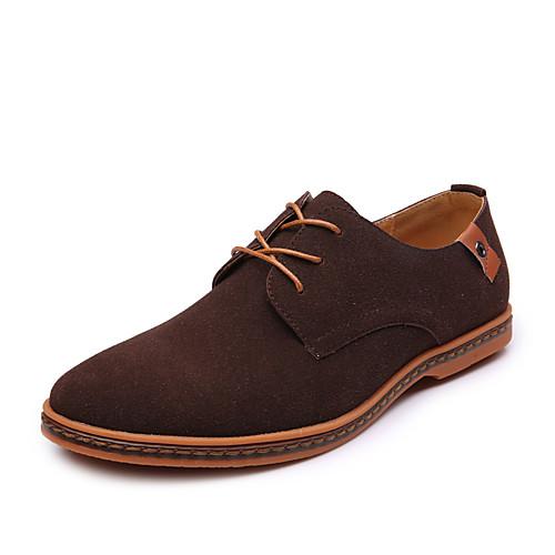 Муж. Обувь для вождения Искусственная кожа Весна / Лето Удобная обувь Туфли на шнуровке Синий / Верблюжий / Хаки / Для вечеринки / ужина