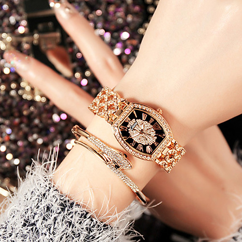 lightinthebox / Mujer Relojes de Lujo Reloj de Pulsera Relojes de Oro Acero Inoxidable Plata / Dorado / Oro Rosa Resistente al Agua Creativo La imitación de diamante Analógico damas Encanto Lujo Destello Casual -