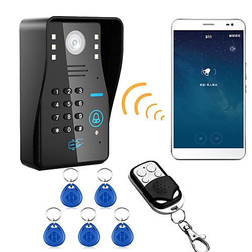 720p беспроводной wifi rfid пароль видео домофон телефон домофон система ночного видения водонепроницаемая камера с дождевой крышкой