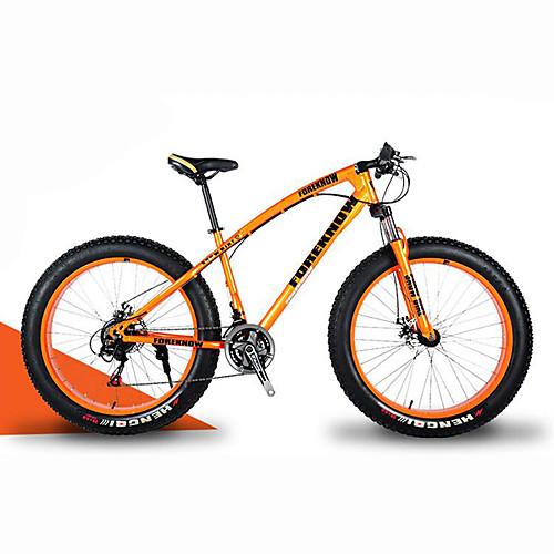 Горный велосипед Сноубайк Велоспорт 21 Скорость 26 дюймы/700CC 40 мм SHIMANO 30 Гидравлический дисковый тормоз Вилка Рама с жесткой