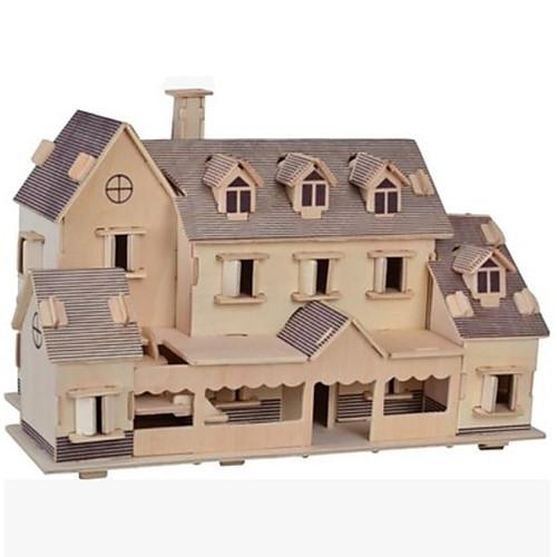 3D пазлы Пазлы Деревянные пазлы Деревянные игрушки Наборы для моделирования Знаменитое здание Лошадь Другое Своими руками Дерево фото