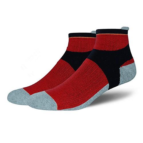 Компрессионные носки Носки до щиколотки Спортивные носки Носки для велоспорта Муж. Йога Бег Пешеходный туризм Велоспорт Анатомический дизайн Защитный 1 пара Хлопок Полиэстер Спандекс / Эластичная фото