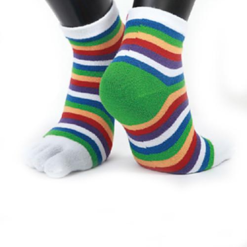 Носки для бега Спортивные носки Носки Носки с пальцами Фитнес, бег и йога Спортивный Бег 1 пара Виды спорта Простой Хлопок Чинлон Черный Белый Лиловый / Эластичная фото