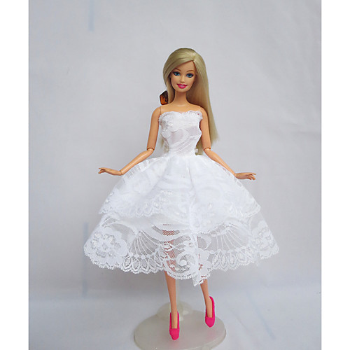 Платье куклы Вечеринка Для Barbie Полиэстер Платье Для Девичий игрушки куклы фото