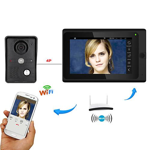 7inch беспроводной / проводной wifi ip видео домофон домофон домофон с поддержкой удаленного приложения unlockrecordingsnapshot от Lightinthebox.com INT