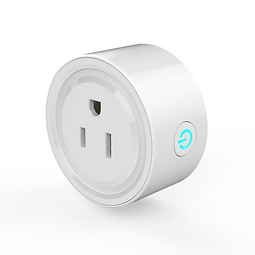 waza smart plug (us) мини-розетка, совместимая с amazon alexa и помощником Google, с поддержкой Wi-Fi интеллектуального разъема с функцией таймера, без концентратора