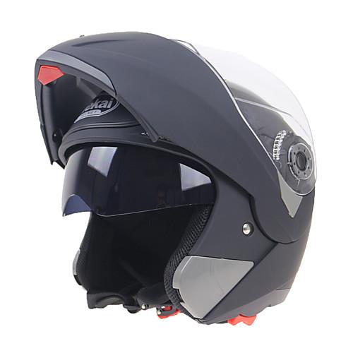 Открытый шлем Взрослые Универсальные Мотоциклистам Ударопрочный / Устойчивый к царапинам / двойной фильтр, Черный