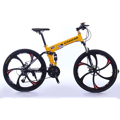 Горный велосипед / Складные велосипеды Велоспорт 27 Скорость 26 дюймы / 700CC Shimano Гидравлический дисковый тормоз Передняя вилка с амортизацией Складной Обычные Алюминий