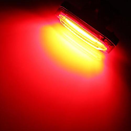 бар ограничительные огни Задняя подсветка на велосипед огни безопасности Светодиодная лампа Велосипедные фары - Велоспорт Водонепроницаемый Перезаряжаемый Маленький размер Литиевая батарея 50 lm, Red and white