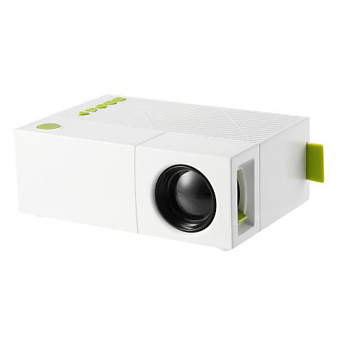 YG310 ЖК экран Светодиодная лампа Проектор 500 lm Другие ОС Поддержка 1080P (1920x1080) 20-80 дюймовый / QVGA (320x240), Белый
