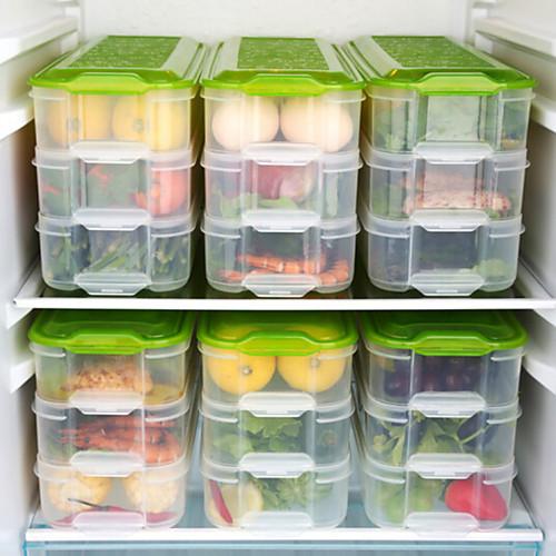 3 слоя четкие кухня ящик для хранения холодильник ящик для хранения замороженных продуктов бытовой контейнер для хранения крышка ящик для яиц фото