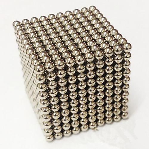 1000 pcs 3mm Магнитные игрушки Магнитные шарики Конструкторы Сильные магниты из редкоземельных металлов Неодимовый магнит Стресс и тревога помощи Товары для офиса Своими руками Взрослые / Детские, Черный