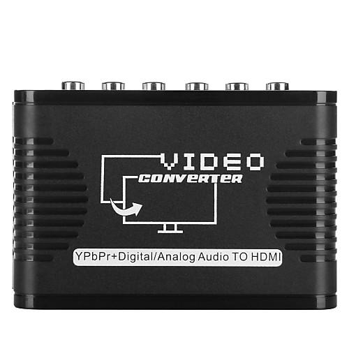 видео конвертер входной адаптер YPbPr к HDMI выход 5 RCA поддержки порт 720p 1080p аудио конвертер