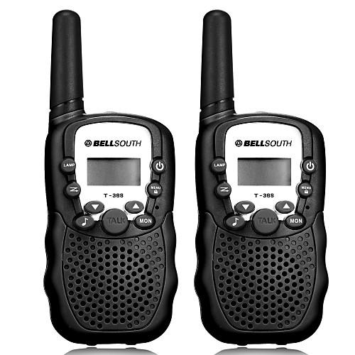 T-388 Для ношения в руке / Аналоговая VOX / CTCSS / CDCSS 3 - 5 км 3 - 5 км 22CH 0.5W Walkie Talkie Двухстороннее радио, Черный