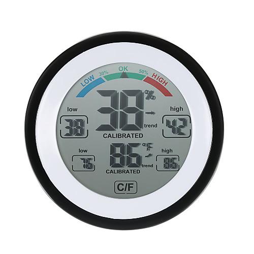 высокоточный мини-электронный термометр гигрометр бытовой креативный закрытый настенный психрограф