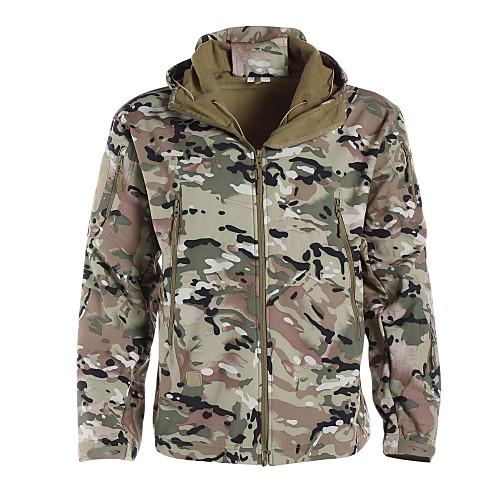 Камуфляжная куртка для охоты Водонепроницаемость Ультрафиолетовая устойчивость Защита от пыли Дышащий Муж. Жен. Универсальные Длинный