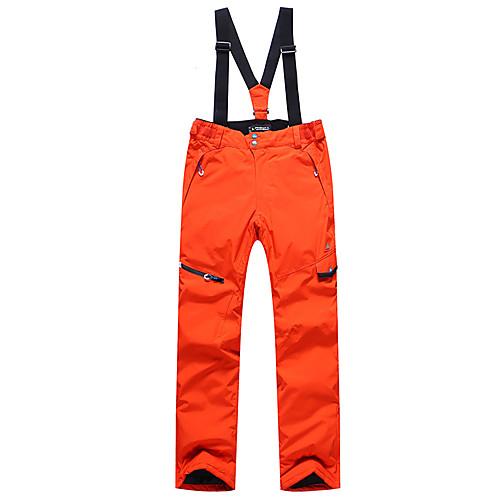 Phibee Муж. Лыжные брюки Водонепроницаемость С защитой от ветра Теплый Катание на лыжах Полиэстер Брюки Снегурочка Одежда для катания на лыжах