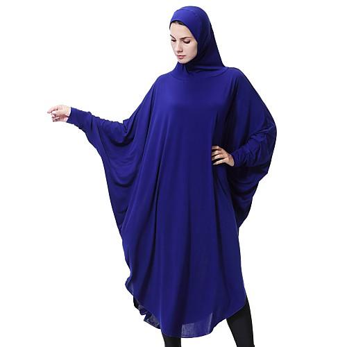 lightinthebox / Mulheres Festa Básico Luva Lantern Solto Abaya Kaftan Vestido Sólido Médio