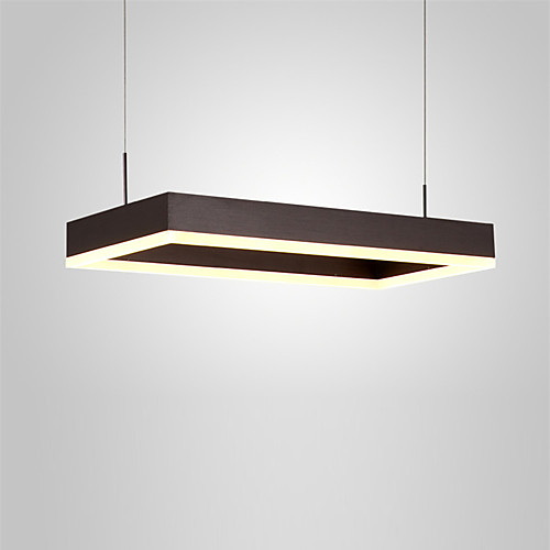 северная Европа современная светодиодная подвеска свет 32w прямоугольник металлическая гостиная столовая спальня люстра