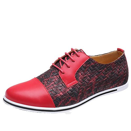 Муж. Обувь для новинок Микроволокно Весна / Осень На каждый день Туфли на шнуровке Желтый / Красный / Синий / Комбинация материалов / на открытом воздухе