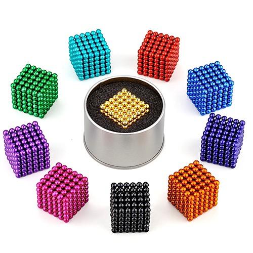 216 pcs 3mm Магнитные игрушки Магнитные шарики Конструкторы Сильные магниты из редкоземельных металлов Неодимовый магнит Головоломка Куб Неодимовый магнит / Стресс и тревога помощи фото
