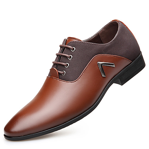 Муж. Оксфорд Весна / Осень Удобная обувь Туфли на шнуровке Черный / Темно-русый / Темно-коричневый / Для вечеринки / ужина