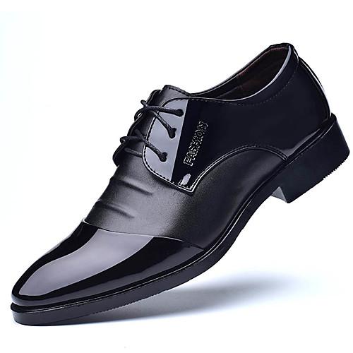 Муж. Официальная обувь Полиуретан Весна / Лето Деловые Туфли на шнуровке Черный / Коричневый