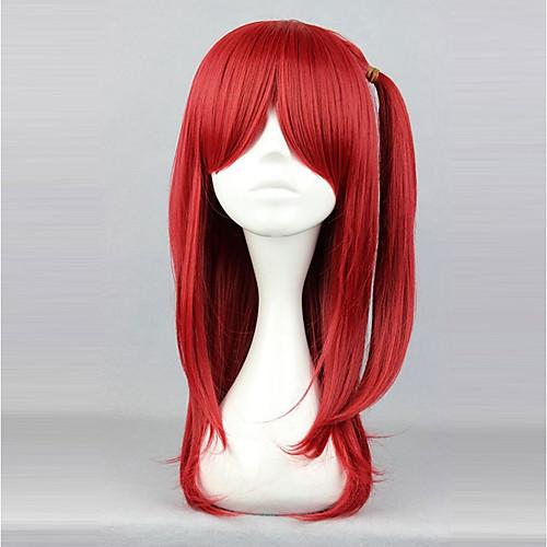 Косплэй парики Муж. Жен. 24 дюймовый Термостойкое волокно Красный Аниме / Прицесса фото