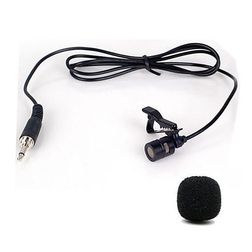 мини портативный клип на отворот lavalier громкой связи 3,5 мм разъем конденсаторный проводной микрофон микрофон, Черный