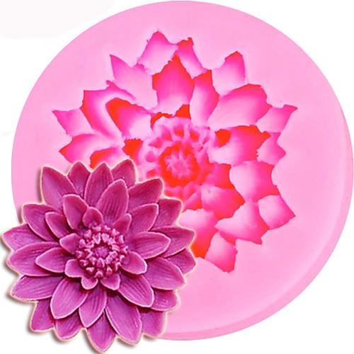 Форма лотоса 3d силиконовые формы торт шоколадные конфеты желе украшения инструменты фото