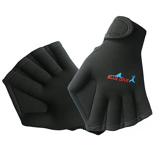Bluedive Дайвинг Перчатки Акваперчатки Спортивные перчатки 2mm Нейлон неопрен Перепончатые весла перчатки Сохраняет тепло Быстровысыхающий Анатомический дизайн / Детские фото