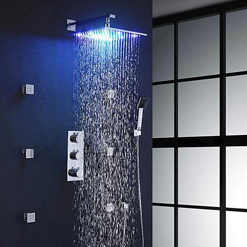 Смеситель для душа - Современный Хром На стену Медный клапан Bath Shower Mixer Taps / Латунь