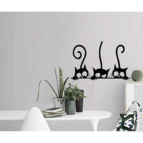 Декоративные наклейки на стены - Простые наклейки / Наклейки для животных Абстракция / Животные Спальня / Кабинет / Офис фото